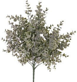 Eucalyptusbush met 12 vertakkingen, met 111 clusters blad (1332 blad), gepoederd, Ø 35 cm, H. 45 cm