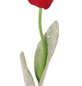 Tulpe mit 2 Blaettern mit Eis 65cm