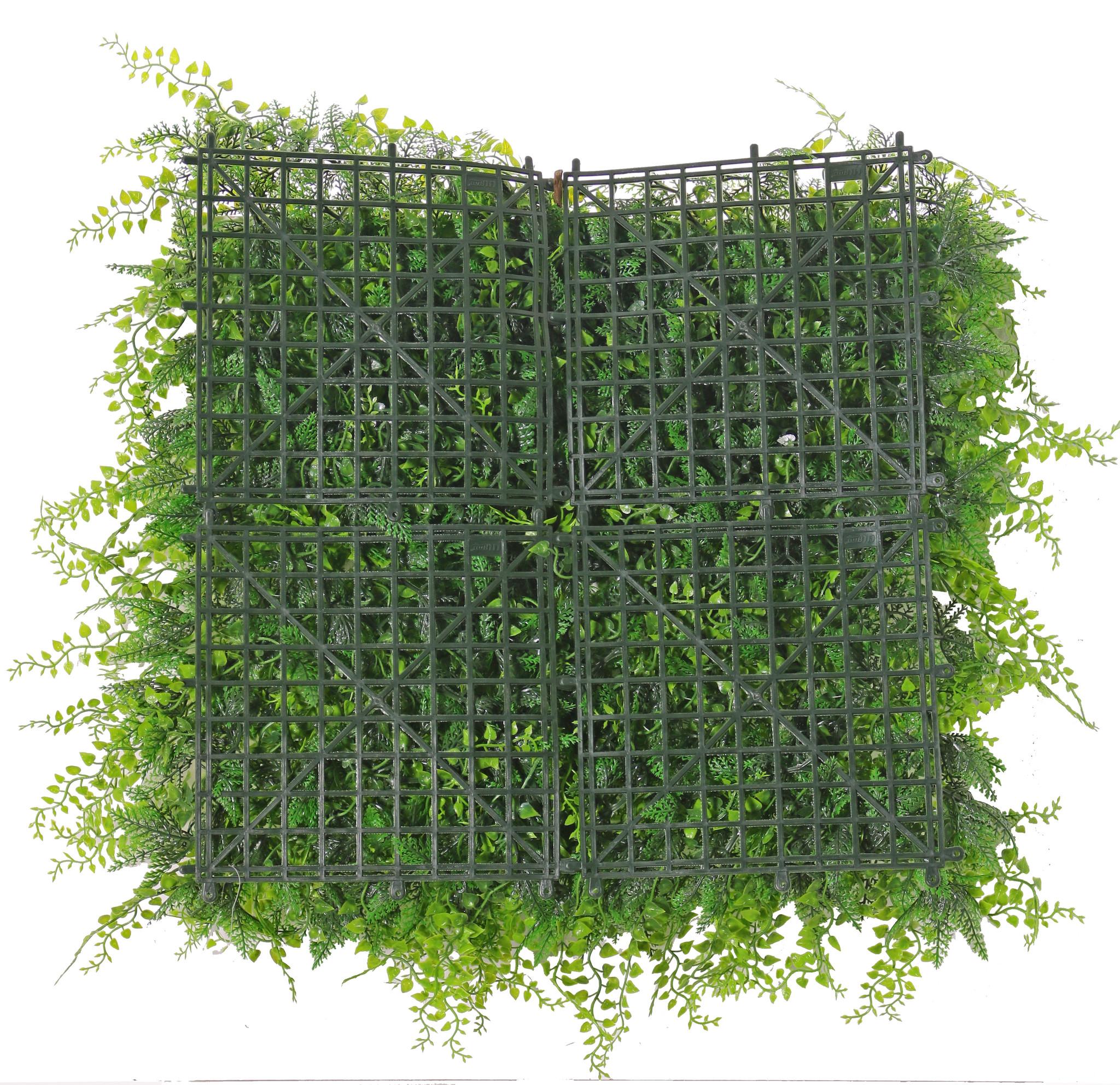 "Kunstpflanzenwand-Element ""Basic"", 50 x 50 x 8 cm, PE, UV sicher"