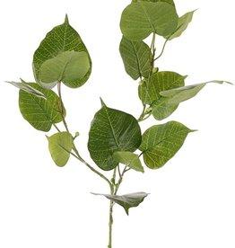 Ficus religiosa, 15 hojas, 10 bayas de plastico, 78 cm