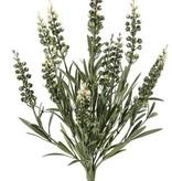 Lavendel (Lavandula), 42 bladeren & 12 bloemen, brandvertragend en UV bestendig, 35cm