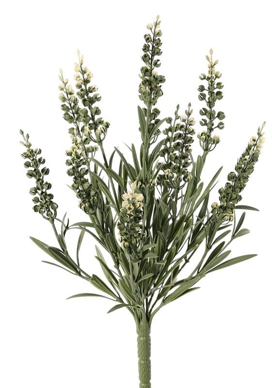 Lavandula, 12 espigas florales, 42 hojas, resistente al fugeo y rayos de UV safe,  a. 35cm