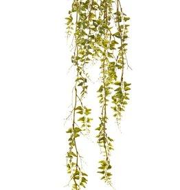 Fern hanger (laguna) 'Green wave' on a moss bulb Ø 8 cm, 44 plastic leaf clusters, 90 cm