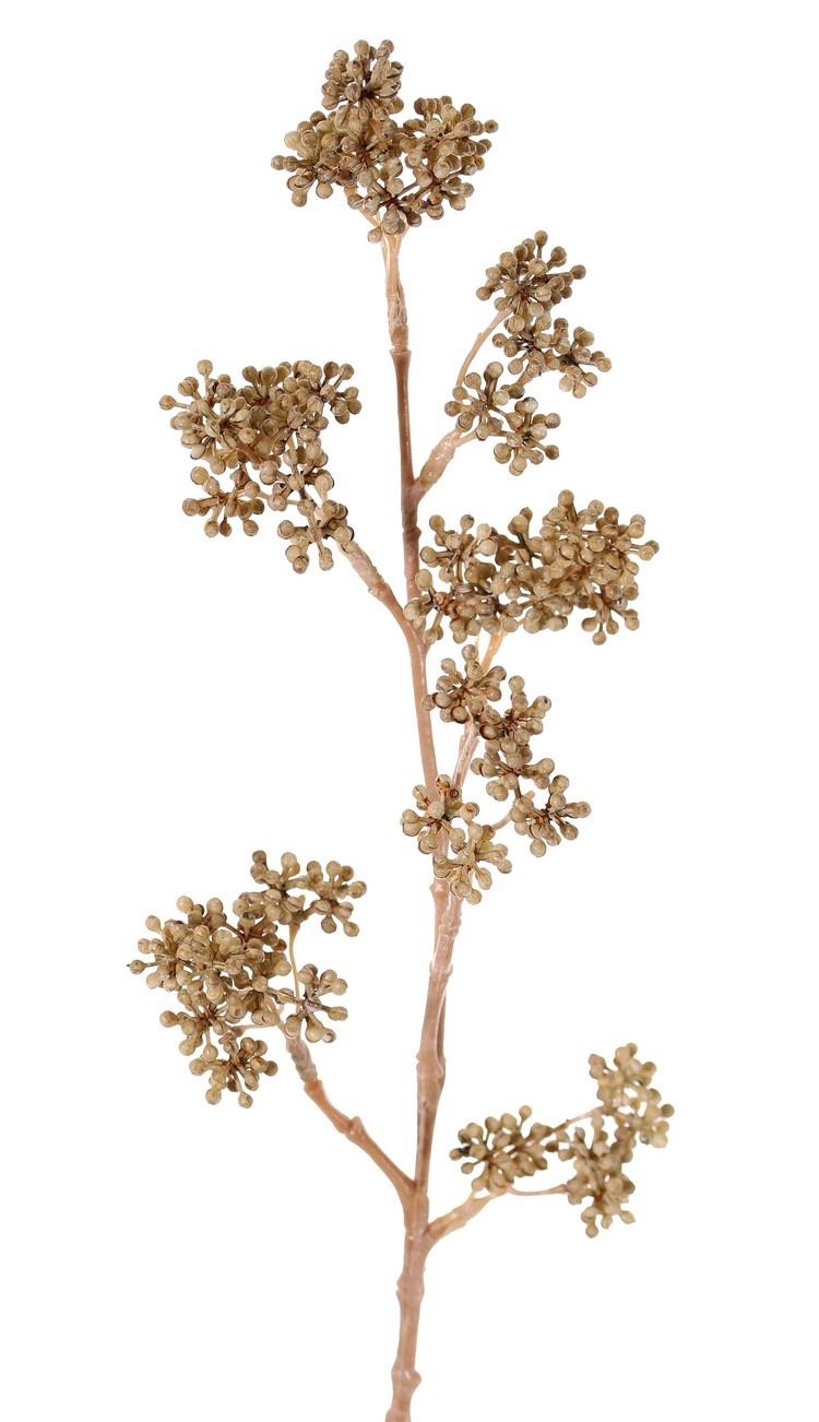 Callicarpatak, 7 bessenclusters (58 toefjes), volplastic, 43 cm