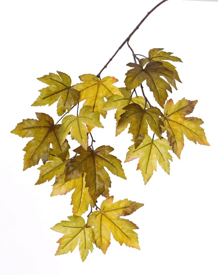 "Acer (Maple) branch ""Ruby"", 15 leaves (Ø 10/14cm), 91cm"