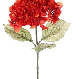 Hortensie (Hydrangea), Ø 18 cm, H. 11 cm, 3 Blätter (14 x 10 cm), 73 cm