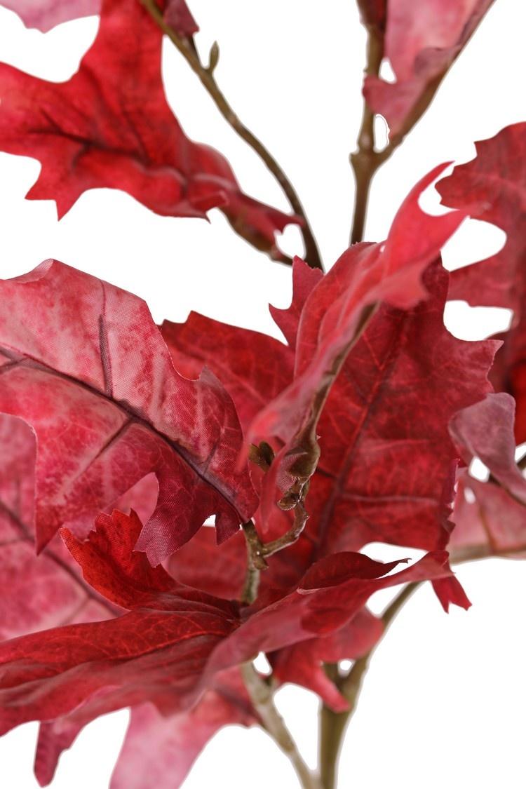Eichenzweig (Quercus) 'Modern Art', 4x verzweigt, 18 Blätter (10 L /8 Med.), 75 cm