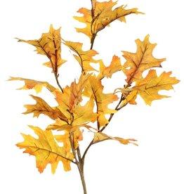Oak branch (Quercus) 'Modern Art', 4x branched, 18 leaves (10 L /8 Med.), 75 cm