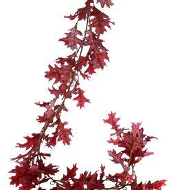 Eichenblattgirlande (Quercus) 'Modern Art', 18x verzweigt, 81 Blätter (44 L / 37 Med.), 180 cm