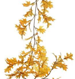 Oak leaf garland (Quercus) 'Modern Art', 18x branched, 81 leaves (44 L / 37 Med.), 180 cm