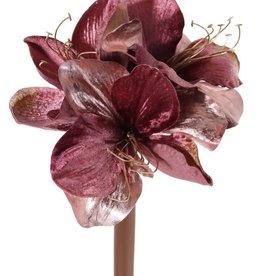 Kunstbloem Amaryllis 'Glamour', 3 Blüten