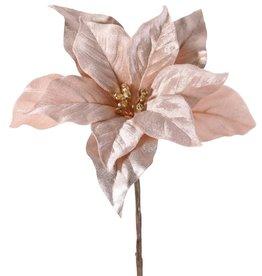 Top Art Poinsettia, Christstern, Weihnachtsstern 'Glamour', 1 Blume (Ø 23 cm, H. 5 cm), (Samt & Polyester)