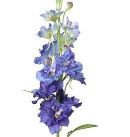 Delphinium Rittersporn, 12 Blumen, 8 Knospen, 3 Blaetter, 60cm