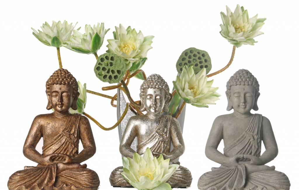 Boeddha zittend meditatie 30cm