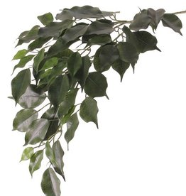"""Ficuszweig """"exotica"""" mit 3 Verzweigungen,  61 Blätter, 77cm - schwer entflammbar - AKTION"""