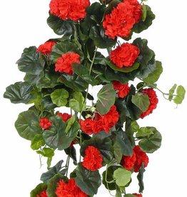 Geraniumhanger (Franse), 232 bloemen,  128 bladeren,  70cm