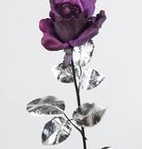 Rose diamond velvet satin