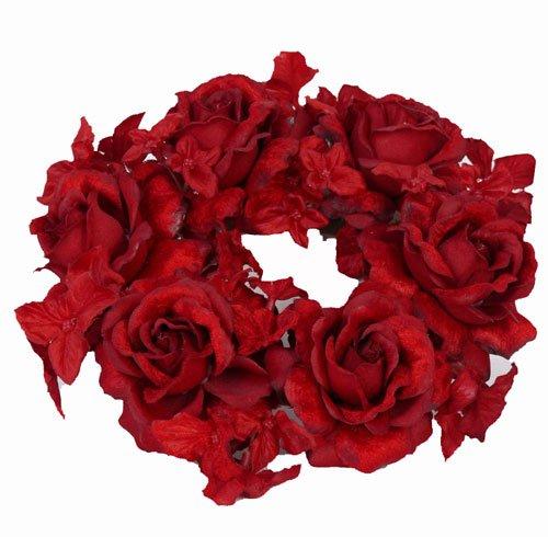 Rosen- Hortensienkerzenring Ø 18cm
