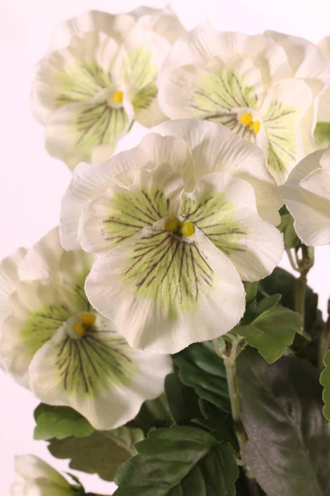 Veilchen, Stiefmütterchen, mit 7 Verzweigungen, 9 Blumen (7x Ø 7cm u. 2x Ø 2,5cm), 28cm