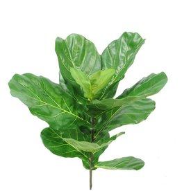 Ficus lyrata (higuera hoja de violín), 11 hojas, resistente de rayos UV, 77cm