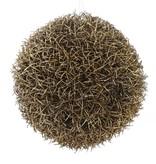grass ball hanger, Ø15CM, gold with glitter