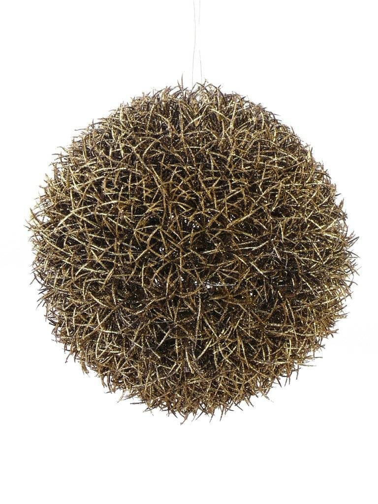 Gras Ball Haenger Gold mit Glitter, Ø15CM