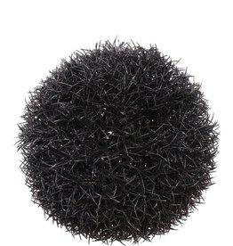 Gras bal hanger glitter,zwart, Ø15CM