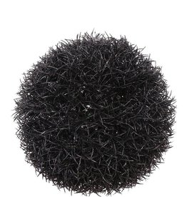 Gras Ball Haenger Schwarz, mit Glitter, Ø15CM