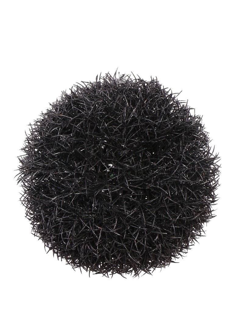 Gras bal hanger glitter, zwart, Ø15CM