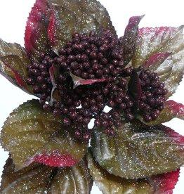 Beerenpflanze mit Blatt und Glimmer, 35cm