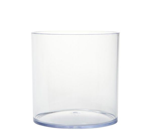 Vaas acryl 'Cilinder' helder, 15cm