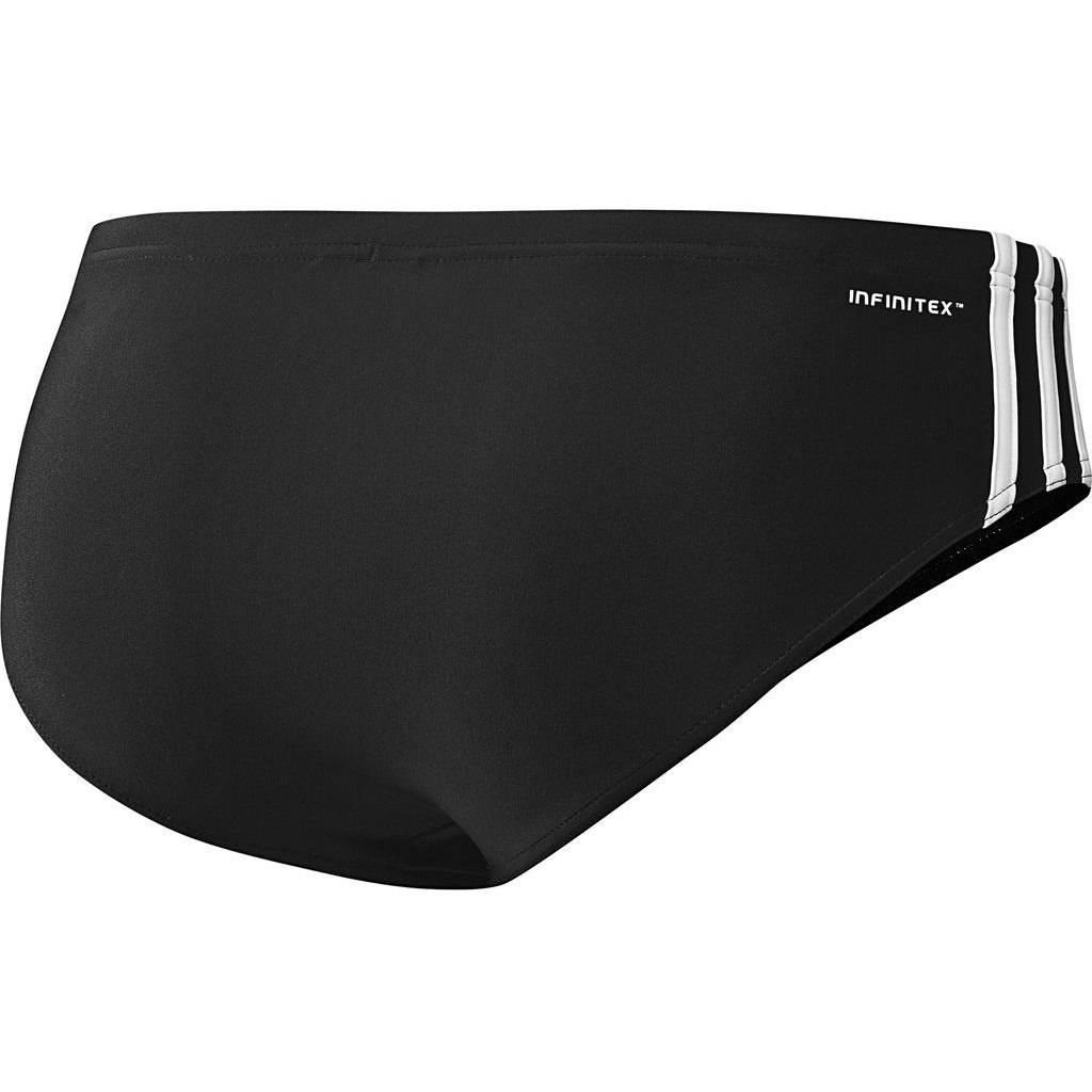 white adidas swim brief
