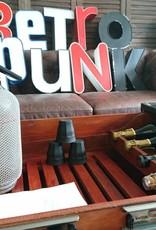 Retro Punk Tischbar schwarz