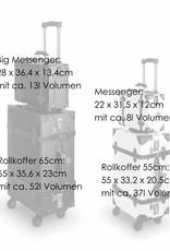 Retro Punk Juice Rollkoffer 55cm Cabin Size