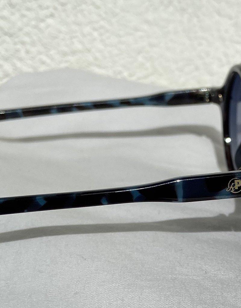 Retro Punk Sonnenbrille blau