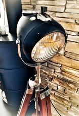 Retro Punk Stehlampe Motorradscheinwerfer