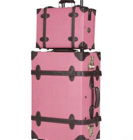 Retro Punk Set Pink mit 55cm Rollkoffer und Messenger