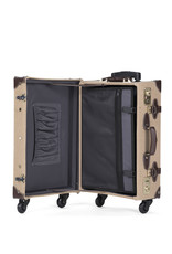 Retro Punk Mocca Rollkoffer 55cm Cabin Size Cotton