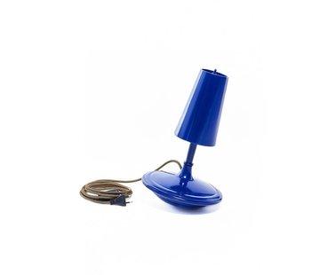 LABEL/BREED DEMAKERSVAN Metal Cast Lamp High blauw