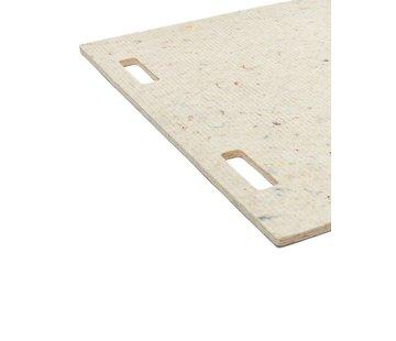 LABEL/BREED CHRISTIEN MEINDERTSMA Wool & Bio-Based Plastic Mat, wol wit gelijnd