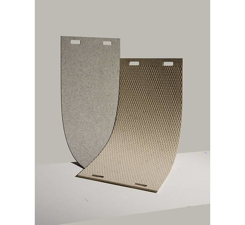 LABEL/BREED LABEL/BREED Wool & Bio-Based Plastic Carpet by CHRISTIEN MEINDERTSMA & Enkevwol grijs rooster