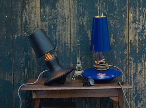 LABEL/BREED DEMAKERSVAN Metal Cast Lamp Low blauw