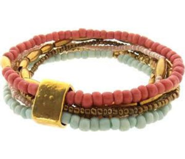 Sieraden4life Sieraden4Life Anasa luxe armband gold mint coral