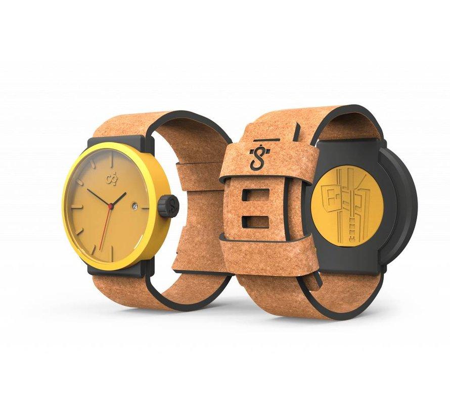 Circular Clockworks Watch Lazy Lion Geel + Sienna