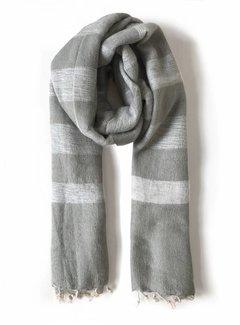 Studio Jux Handwoven scarf - beige sand stripe