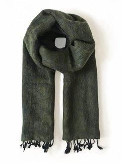 Studio Jux Handwoven scarf - moss green