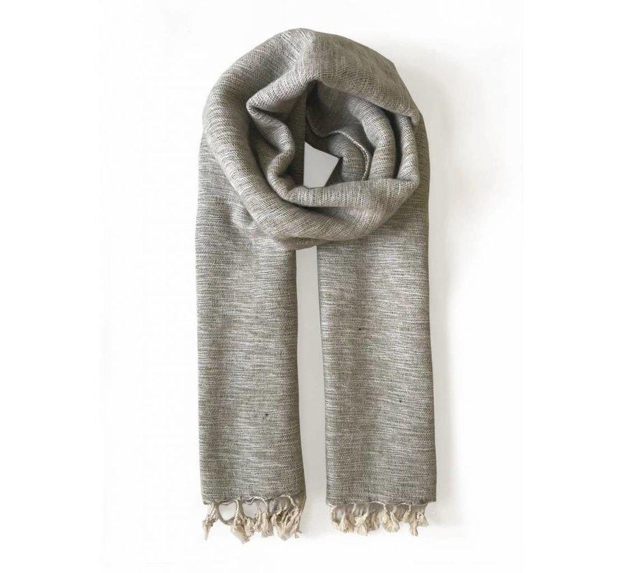 Handwoven scarf - sand melange