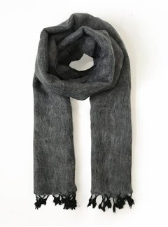 Studio Jux Handwoven scarf - black grey melange