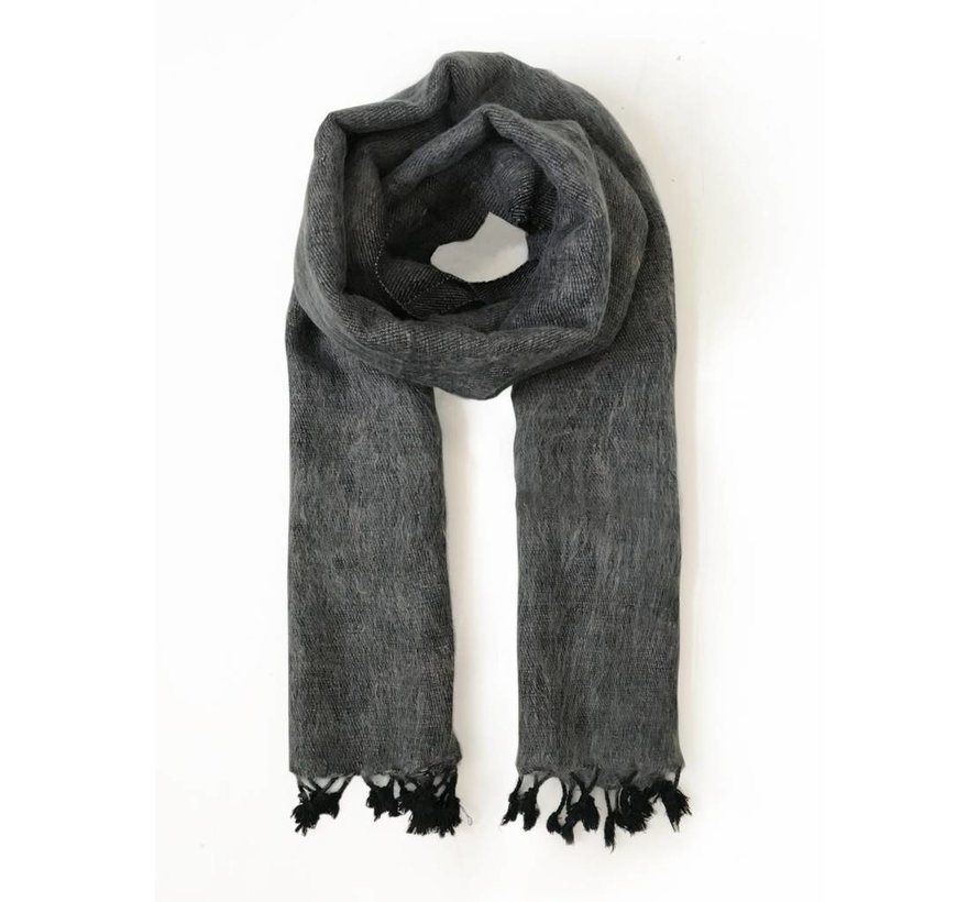 Handwoven scarf - taupe