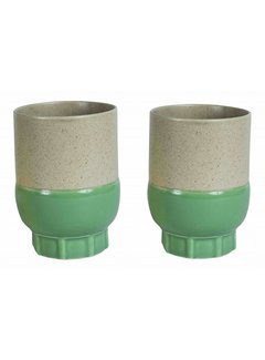 Return to Sender Return to Sender Two colour cups green (2pc)